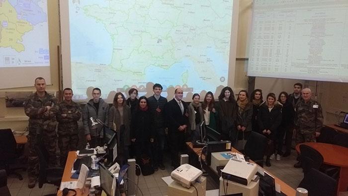 étudiants de L3, mineure Société et Politique, en visite à l'Etat-Major de Zone de Défense de la région Sud-Est - UCLy