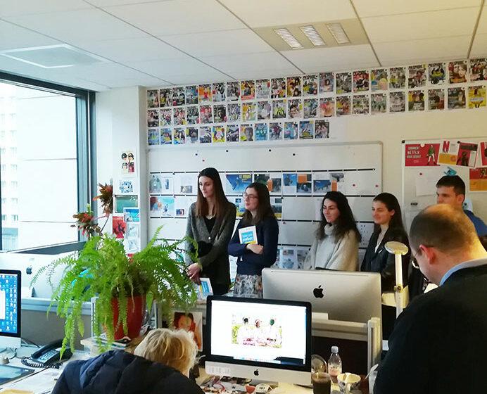 Visite du groupe Bayard Presse à Paris - étudiants - journalisme