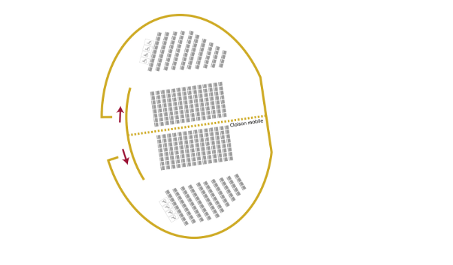 Jean-Paul II Amphitheatre plan