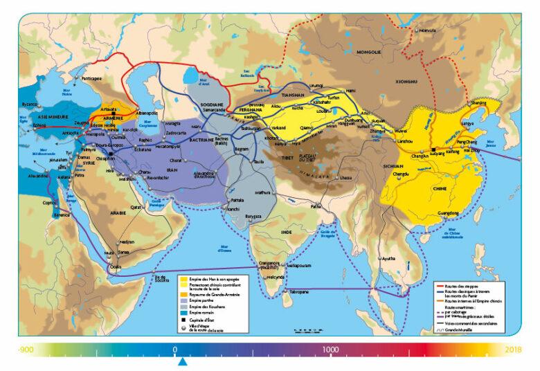 ASIE - La Chine sous la dynastie des Han dans sa plus grande extension l'an 50 - chaire Eurasie