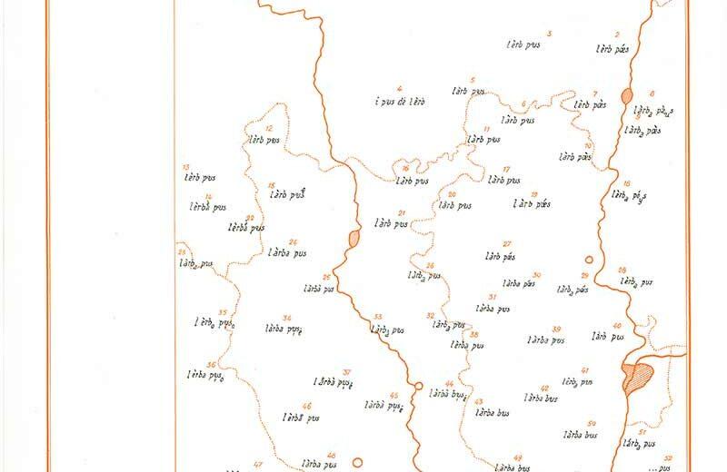 carte 1 atlas linguistique lyonnais - ALLy en ligne - IPG