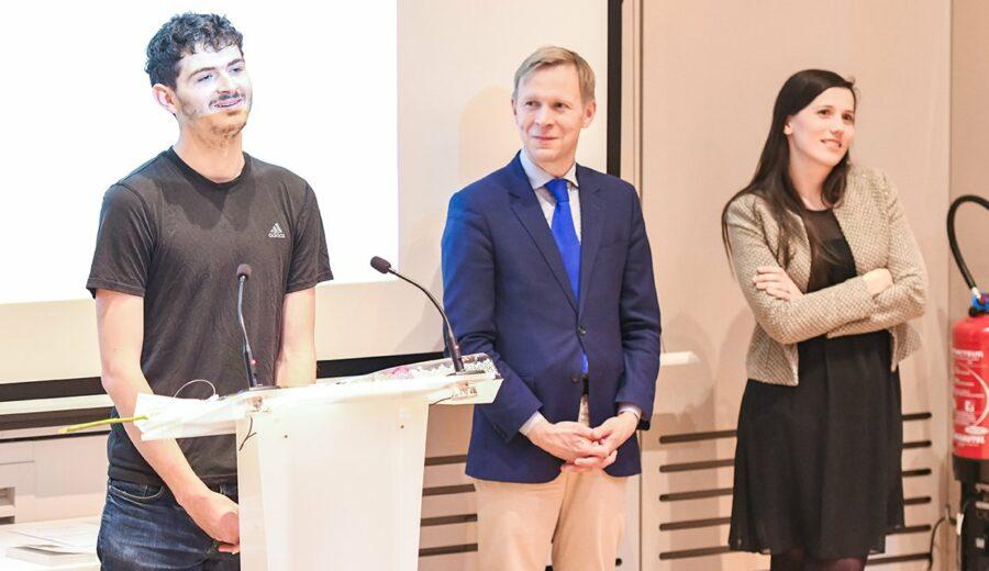 Cérémonie des lauriers - promotion 2017-2018 - étudiant - Marc Ollivier - Jeannerod