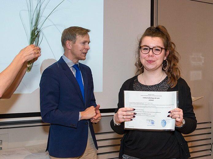 Cérémonie des lauriers - promotion 2017-2018 - étudiant - Marc Ollivier