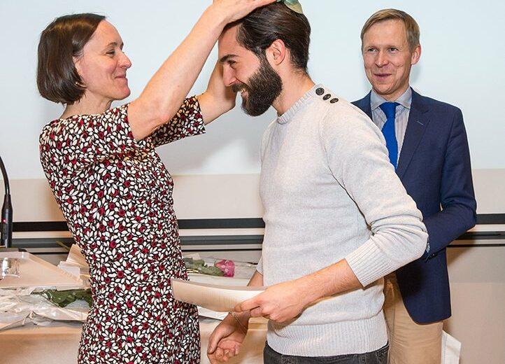 Cérémonie des lauriers - promotion 2017-2018 - étudiants - Vinay - couronnement