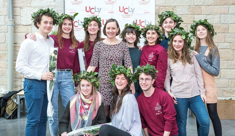 Cérémonie des lauriers - promotion 2017-2018 - étudiants - Vinay - photo de groupe