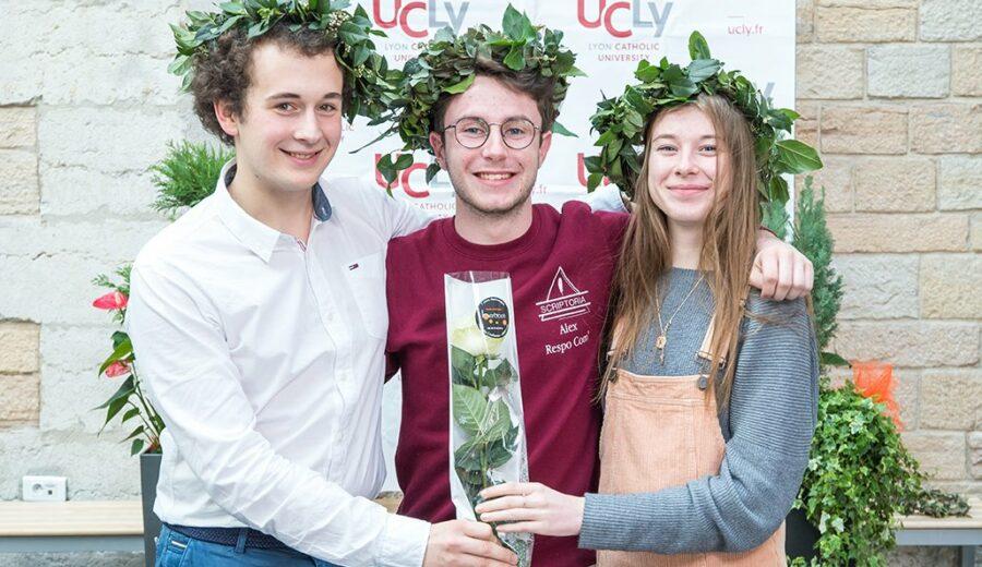 Cérémonie des lauriers - promotion 2017-2018 - étudiants - photo de groupe