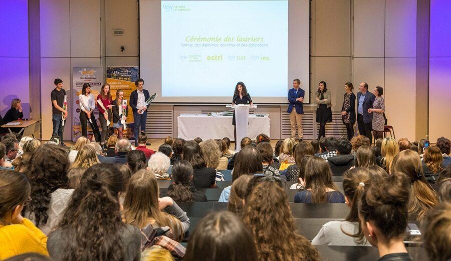 Cérémonie des lauriers - promotion 2017-2018 - discours - amphithéâtre