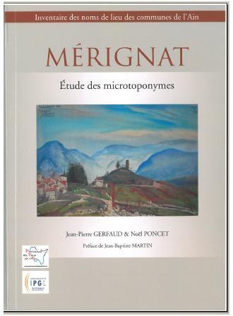 couverture - Mérignat, étude des microtoponymes - TOPORA - IGP