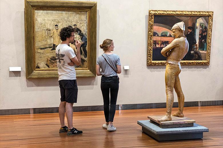 Musée des beaux arts de Lyon - visite des étudiants