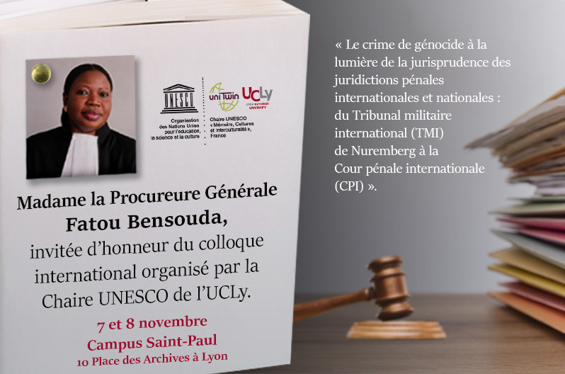Madame la Procureure Fatou Bensouda, invitée d'honneur de la Chaire UNESCO de l'UCLy