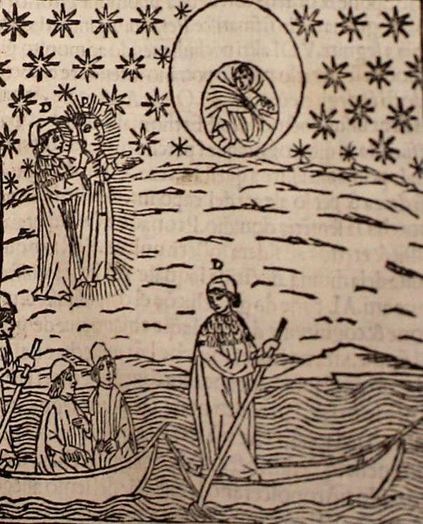 Illustration La Divina commedia col commento di Christoforo Sandino, Dante Alighieri, 1497