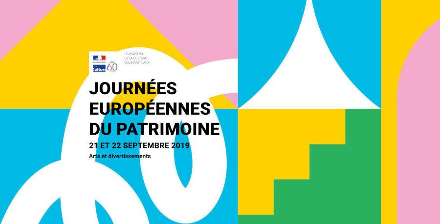 Affiche Journées européennes du patrimoine 2019