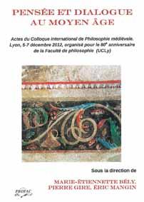 Couverture Pensée et dialogue au Moyen-Âge