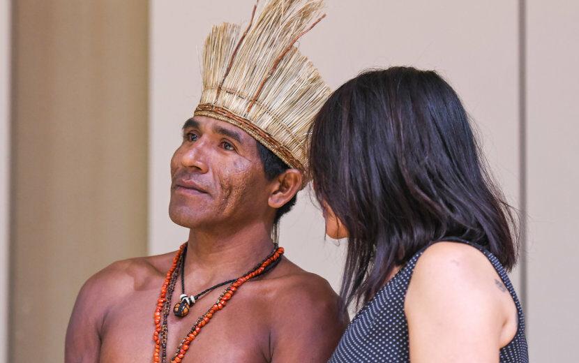 Visite exceptionnelle de l'artiste brésilien Menelaw SETE accompagné de deux indiens d'Amérique Centrale de la tribu Kiriri