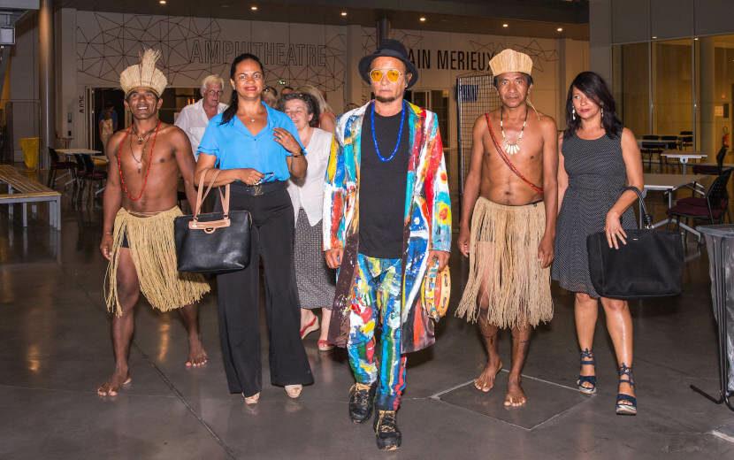 Visite exceptionnelle de l'artiste brésilien Menelaw SETE