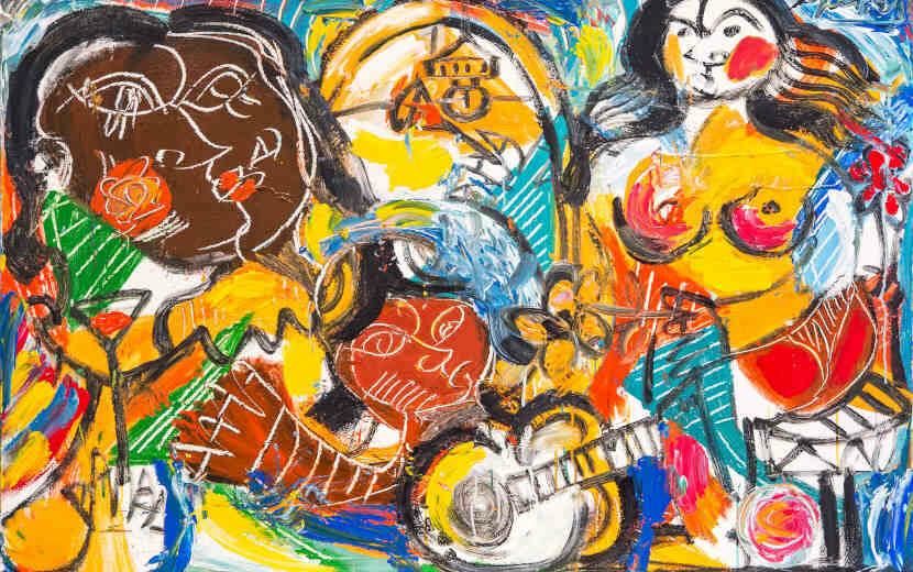 Oeuvre de l'artiste brésilien Menelaw SETE