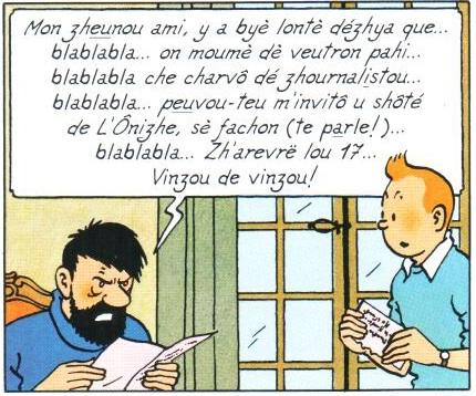 Ônizhe : Traduction francoprovençale de Moulinsart - TOPORA - IPG