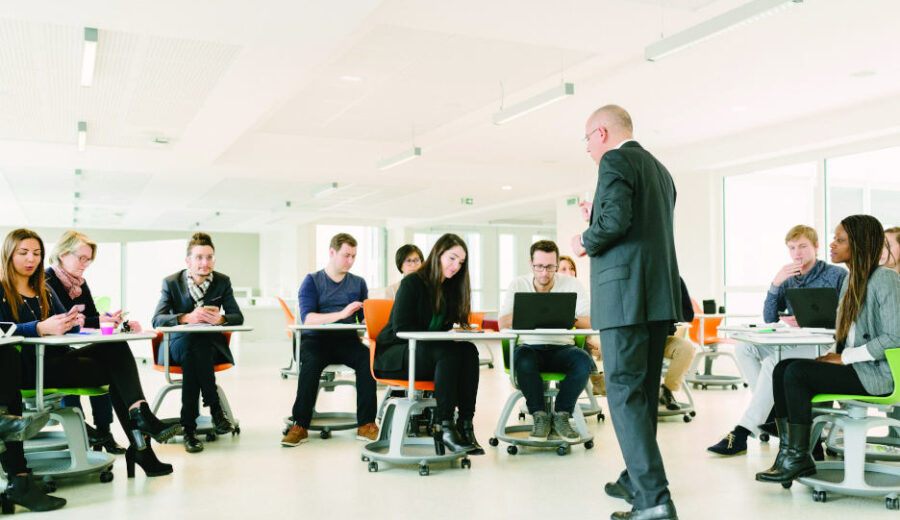 Groupe d'étudiants en formation
