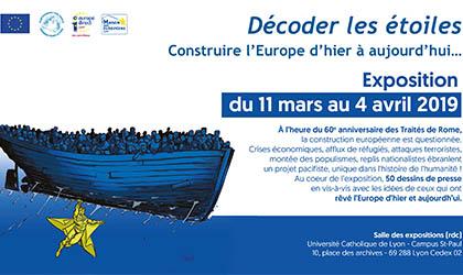 """Exposition """"décoder les étoiles,Construire l'Europe d'hier à aujourd'hui »"""