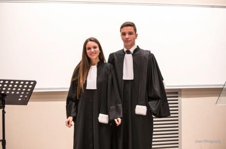 Finale du Concours d'éloquence 2019 - Photo des deux finalistes