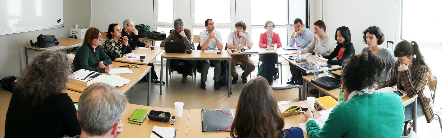 Equipe des chercheurs du projet ReliMig en séminaire