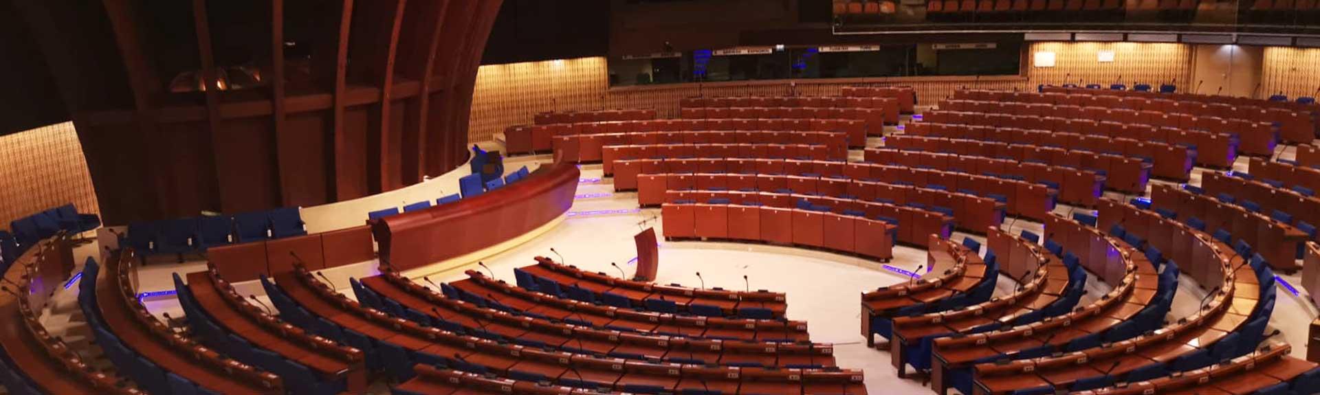 hémicycle de la cour européenne des Droits de l'Homme