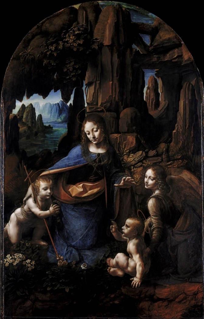 13. La Vierge aux Rochers. Leonard de Vinci
