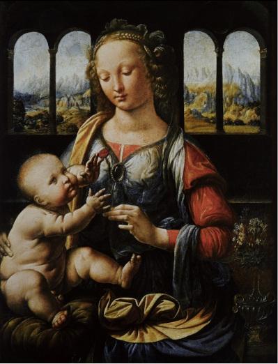 2. Vierge à l'Enfant. Leonard de Vinci