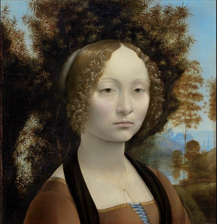 3. Ginevra de' Benci. Leonard de Vinci