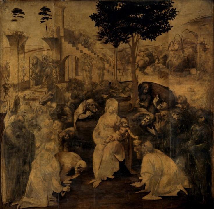 4. Adoration des Mages. Leonard de Vinci