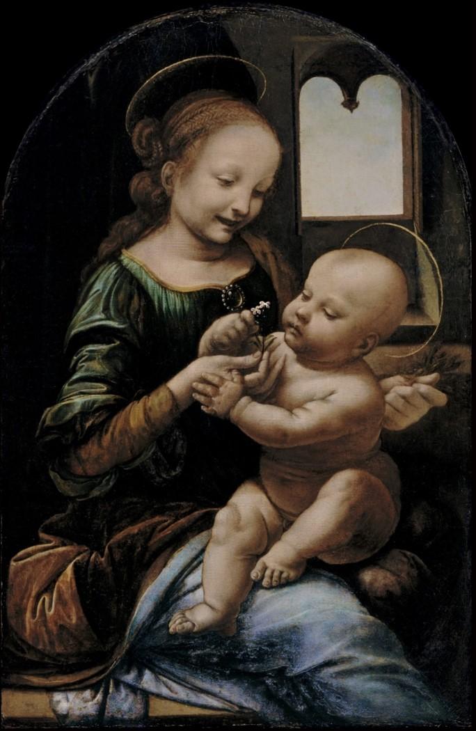 6. Vierge à l'Enfant (Madone Benois). Leonard de Vinci