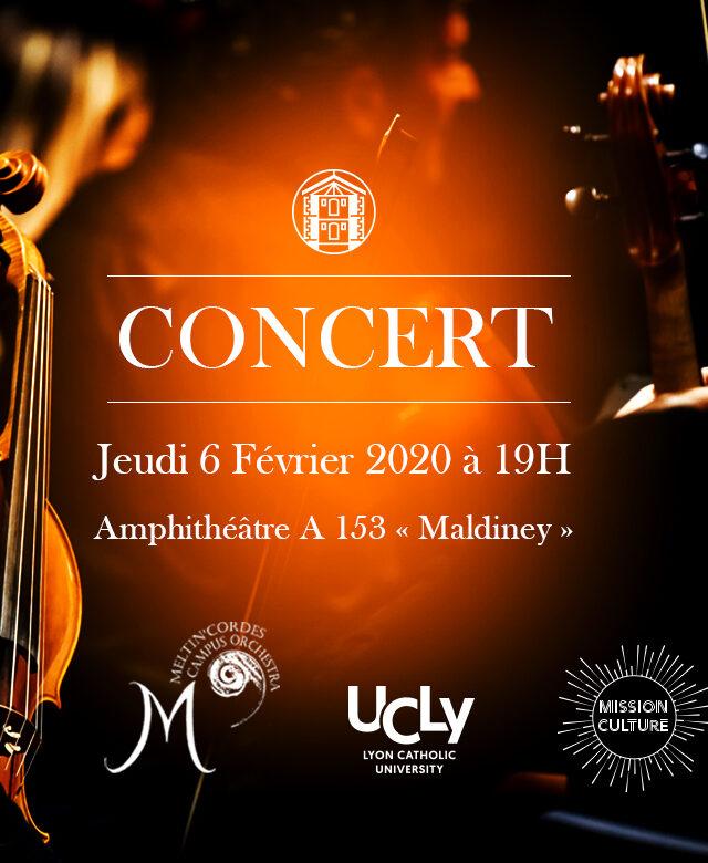 Affiche du concert des étudiants Meltin'cordes Campus Orchestra