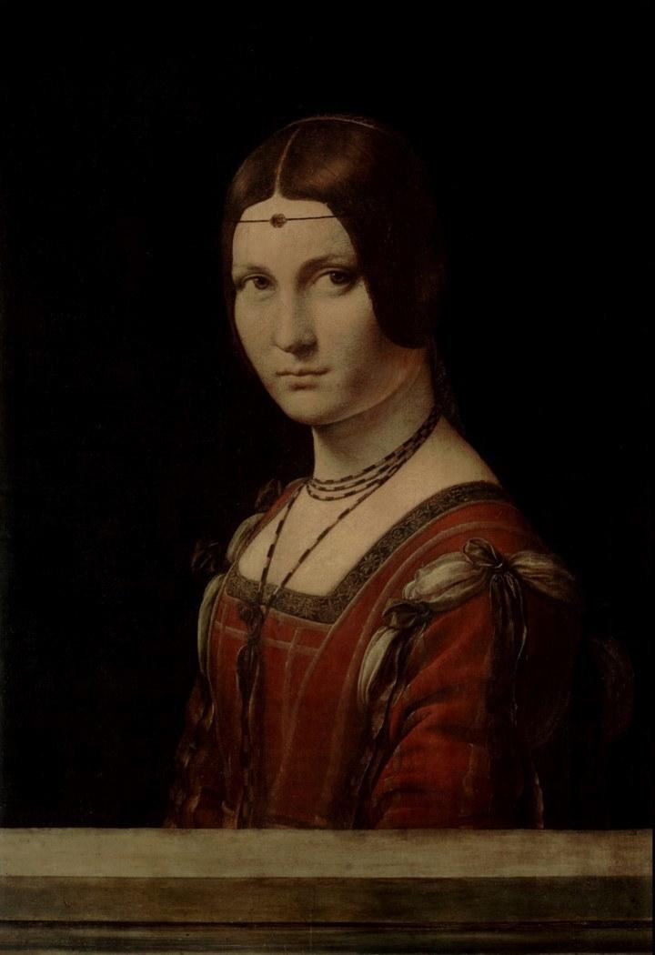 8. Portrait de femme (La Belle Ferronière). Leonard de Vinci