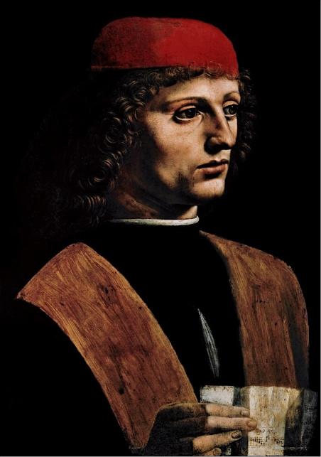 9. Portrait de musicien. Leonard de Vinci