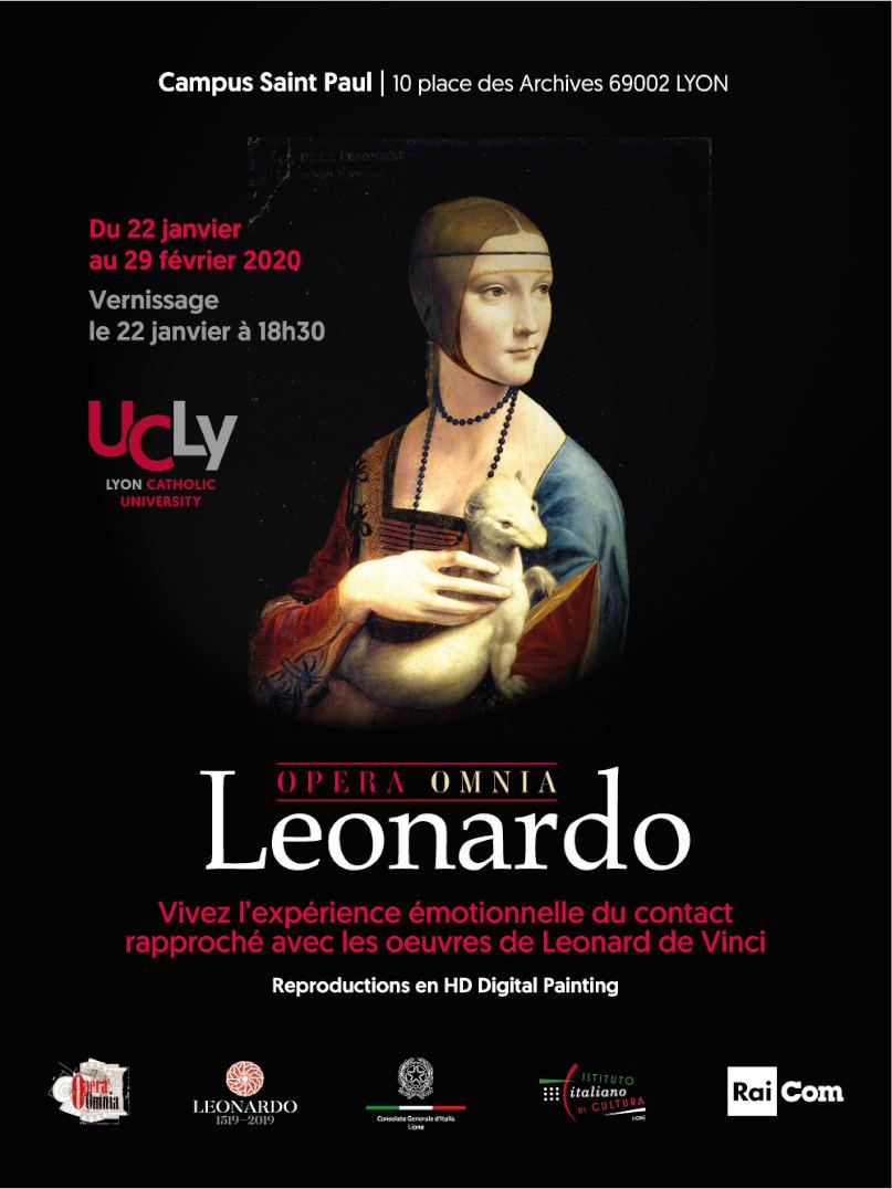 Affiche Expo Leonard de Vinci UCLy