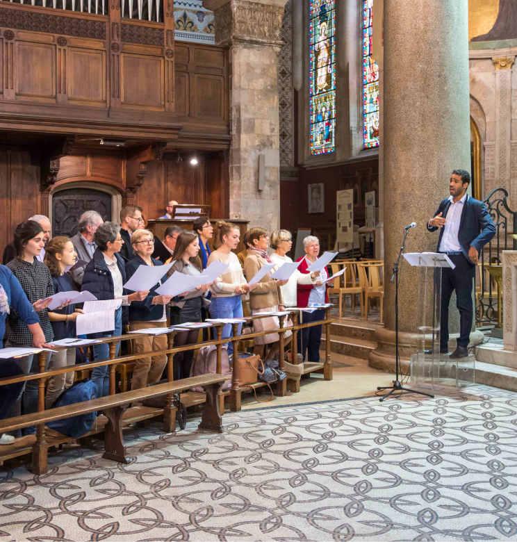 Concert choeurs de l'ucly à la rentrée solennelle 2019