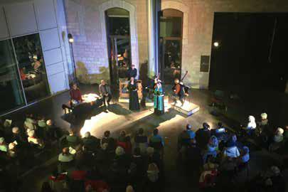 Concert dans le hall de l'UCLy Art