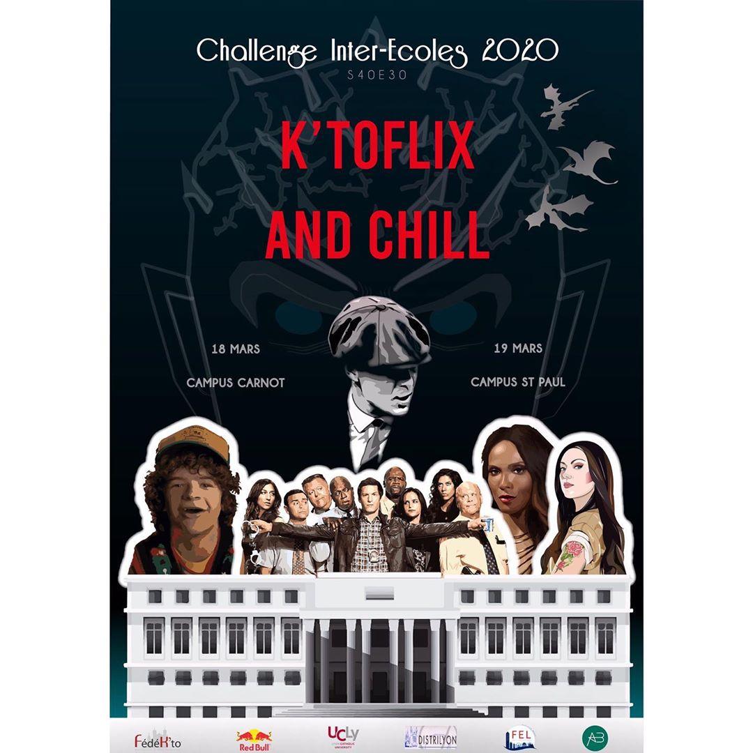 Affiche du 30ème challenge inter-écoles de l'UCLy