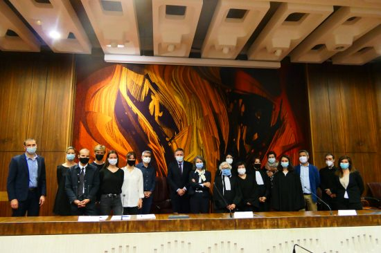 étudiants et équipe du DU Droit Climat