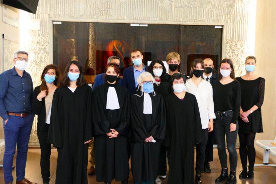 étudiants en droit et coachs