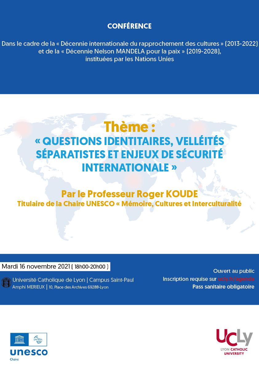 Conférence UNESCO 16 novembre 2021